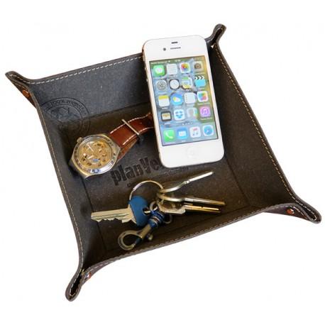 Vide-poches en cuir reconstitué